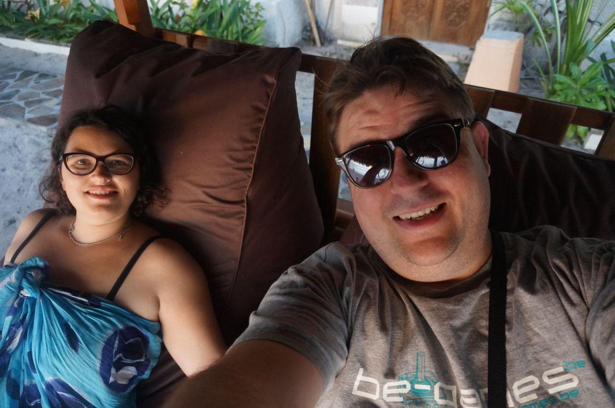 Petit selfie depuis notre poste d'observation