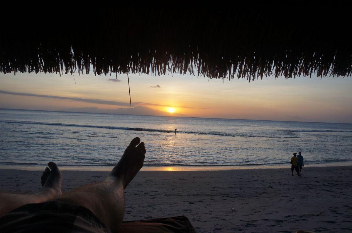 Magnifique couché de soleil sur Lombok