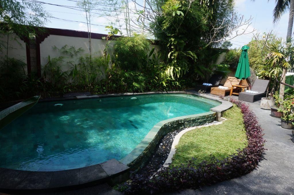La piscine de notre hôtel à Ubud, petite mais sympa