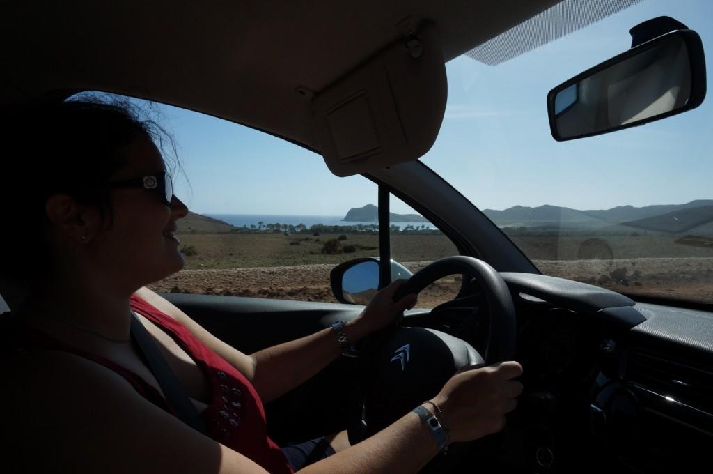 Cabo De Gata - Bea au volant de notre C3 de location