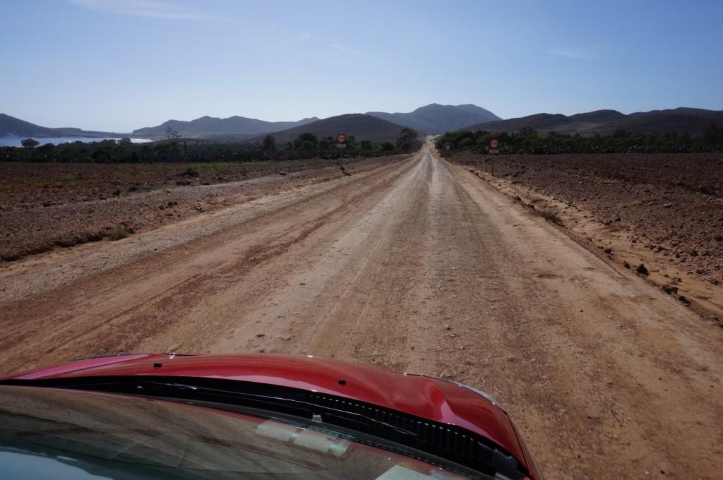 Cabo De Gata - Les routes sont parfois un peu effrayantes