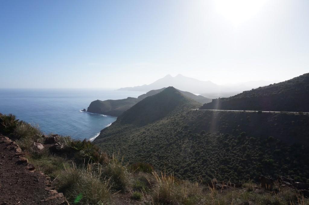 Cabo De Gata - Sur la crète de la carte, une des plus belle vue panormique