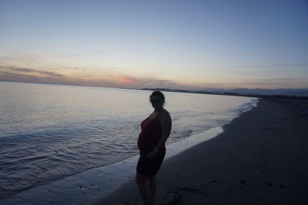 Almerimar - Couché de soleil sur plage de galet